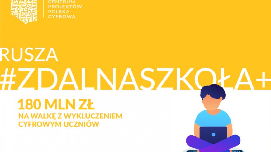 """Laptopy z projektu """"Zdalna Szkoła+"""" przekazane do Publicznej Szkoły Podstawowej w Lubrzy"""