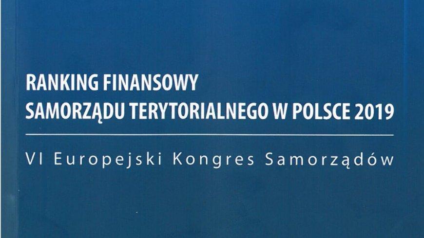 Ranking Finansowy Samorządu Terytorialnego w Polsce 2019 - Gmina Lubrza - trzecie miejsce w woj. lubuskim !!!